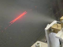 Spray velocity measurement using a laser-Doppler-velocimeter (LDV)